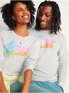 David Bowie® Gender-Neutral Graphic Long-Sleeve Tee for Men & Women