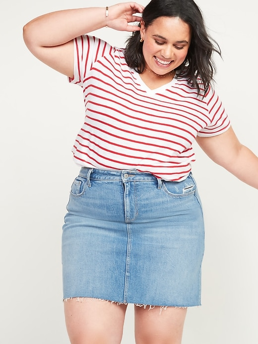 EveryWear Striped Plus-Size V-Neck Tee