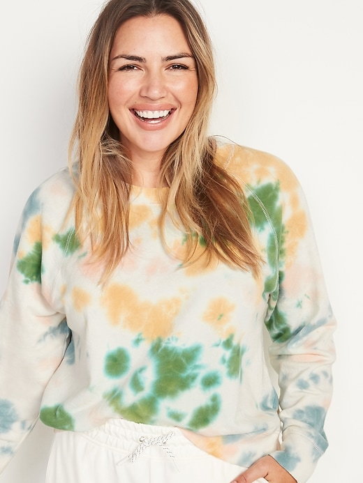 OLD NAVY: Vintage Specially Dyed Crew-Neck Sweatshirt for Women $12.00