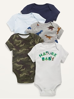 5-Pack Short-Sleeve Bodysuit for Baby