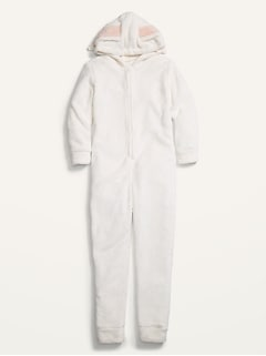 Cozy Hooded Gender-Neutral One-Piece Bunny Pajamas for Kids