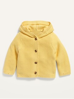 Hooded Button-Front Cardigan for Baby