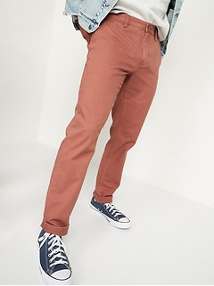 Straight Uniform Non-Stretch Chino Pants for Men