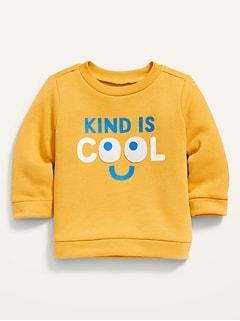 Vintage Graphic Crew-Neck Sweatshirt for Baby