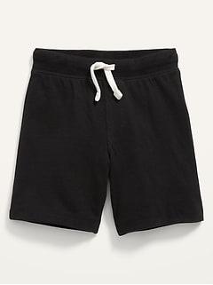 Rib-Knit-Waist Functional-Drawstring Shorts for Toddler Boys