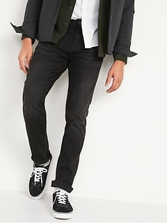 All-New Slim 360° Stretch Performance Black Jeans for Men