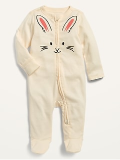 Bunny-Critter Footed One-Piece for Baby