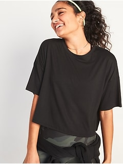 UltraLite All-Day Performance Crop Tee for Women