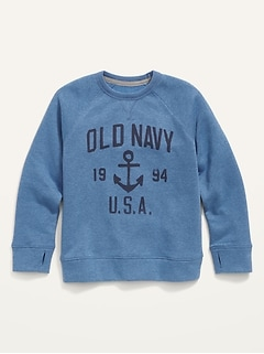 Vintage Logo Graphic Sweatshirt for Boys