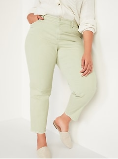 High-Waisted Secret-Smooth Pockets O.G. Straight Plus-Size Jeans
