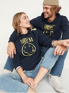 Nirvana™ Graphic Gender-Neutral Pullover Hoodie for Adults