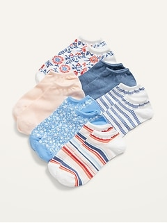 Novelty Ankle Socks 6-Pack for Women