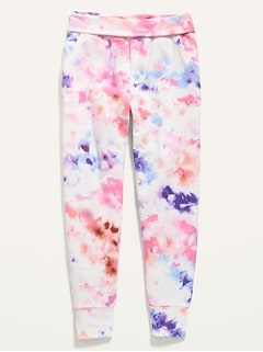 Fold-Over-Waist Live-In Joggers for Girls