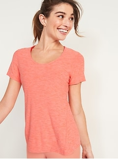 Breathe ON Keyhole-Back Performance Tee for Women