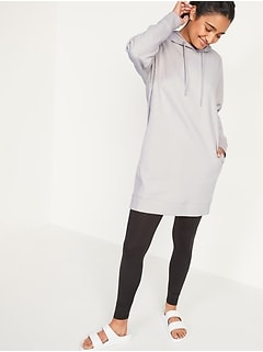 Loose Dynamic Fleece Pullover Hoodie Tunic for Women