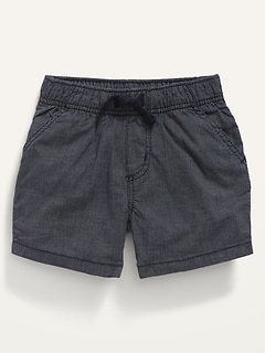 Pull-On Chambray Shorts for Baby