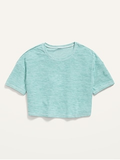 Ultra-Soft Breathe ON Cropped Tee for Girls