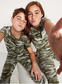 Matching Gender-Neutral Graphic Pajama Set for Kids
