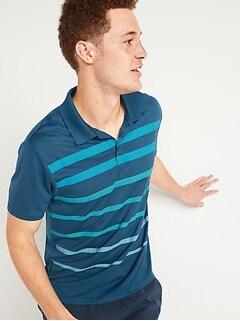 Go-Dry Cool Odor-Control Gradient Stripe Core Polo Shirt for Men