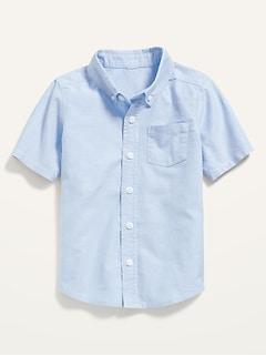 Short-Sleeve Oxford Pocket Shirt for Toddler Boys