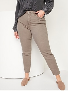 High-Waisted O.G. Straight Mineral-Dye Jeans for Women
