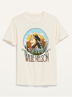 Willie Nelson™ Gender-Neutral Graphic Tee for Adults
