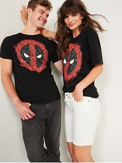 Marvel™ Deadpool Shield Gender-Neutral Graphic Tee for Adults