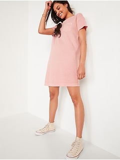 Vintage Garment-Dyed T-Shirt Shift Dress for Women