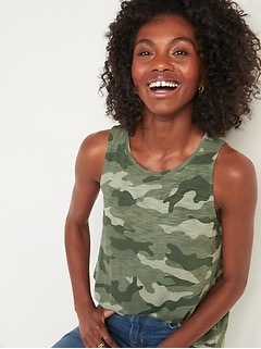 Luxe Printed High-Neck Tank Top for Women