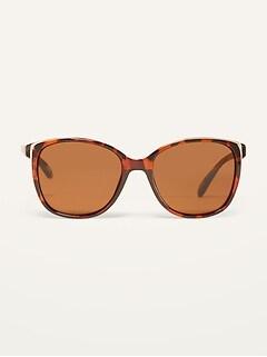 Tortoiseshell Square-Frame Sunglasses for Women