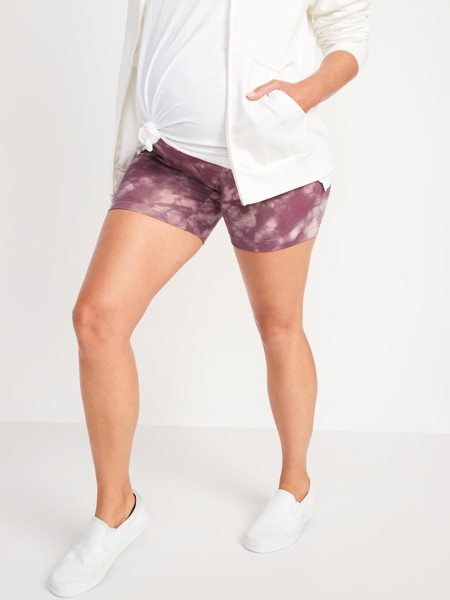 Old Navy Maternity Full Panel Tie-Dye Biker Shorts -- 6-inch inseam