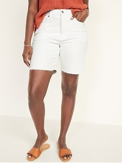 Extra High-Waisted Sky Hi Button-Fly Cut-Off Jean Shorts -- 7-inch inseam