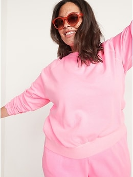 Vintage Specially Dyed Crew-Neck Sweatshirt for Women