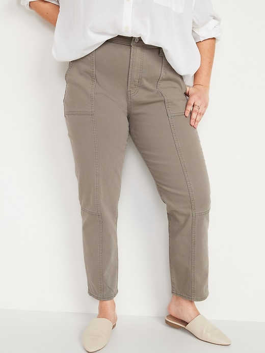 Oldnavy Extra High-Waisted Sky Hi Straight Pop-Color Utility Jeans for Women