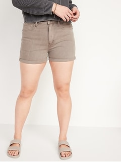 High-Waisted O.G. Straight Mineral-Dye Jean Shorts for Women -- 3-inch inseam