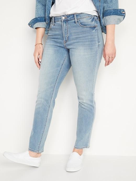 Oldnavy High-Waisted Power Slim Straight Jeans For Women