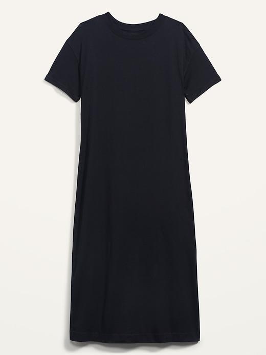 Oldnavy Loose Vintage Garment-Dyed Midi T-Shirt Shift Dress for Women