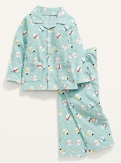 Unisex Printed Pajama Set for Toddler & Baby