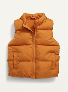 Unisex Solid Frost-Free Puffer Vest for Toddler